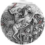 纽埃2017年伟大指挥官(1)斯巴达克斯超高浮雕仿古银币(需预定)