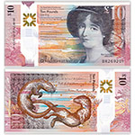 WGZB2854 2016年苏格兰10镑皇家银行塑料钞(England 欧洲)