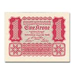WGZB2880-A 1922年奥地利1克朗当面印刷纸币 (Austria 欧洲)