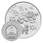2018年吉祥文化(寿居耄耋)圆形金银套币