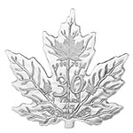 现货:加拿大2018年1盎司枫叶币30周年年前女王头像枫叶形精制银币