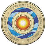 澳大利亚2018年永恒之火永志不忘彩色纪念硬币