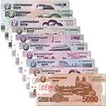 WGZB2885-B 朝鲜10张枚(5-5000元)样钞大全套(DPRK 亚洲)