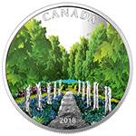 加拿大2018年枫叶树洞隧道夜光彩色精制银币(需预定)