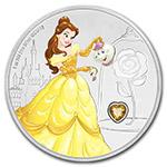 纽埃2018年迪士尼公主(2)美女野兽贝拉宝石镶嵌彩色精制银币(需预定)