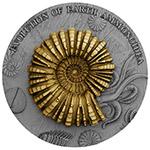 纽埃2018年超高浮雕地球进化钌化镀金2盎司银币(3)鹦鹉螺