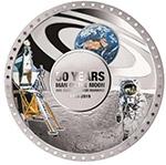 所罗门2019年人类的脚印登录月球50周年曲面彩色精制大银币(需预定)