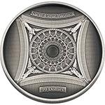 所罗门2018年穹顶系列5法国圣心教堂3D下凹形银币