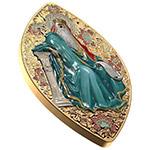 纽埃2016年基督宗教遗产(所罗门王)橄榄形镀金彩印银币(需预定)