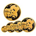 2019年熊猫普制金币套装(5枚)
