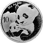 2019年熊猫30克圆形银质纪念币