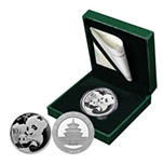 2019年熊猫30克圆形银质纪念币(配金总原装绿盒)