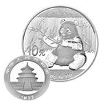 2017年熊猫30克圆形银质纪念币