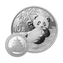 常规:2020年熊猫30克圆形银质纪念币