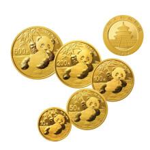 2020年熊猫普制金币套装(5枚)