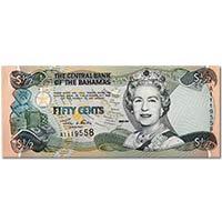 巴哈马1/2(0.5)元纸币