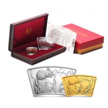 2020年庚子(鼠)扇形金银套币