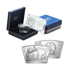 2020年庚子(鼠)30克扇形银质纪念币