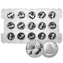 2020年熊猫30克圆形银质快播电影网币(金总原封整版15枚)