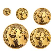 2021年熊猫普制金币套装(5枚)