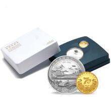 2021年西藏和平解放70周年金银纪念币(8克金+30克银)