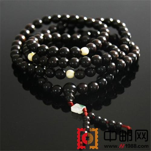 非洲黑檀木隔珠款佛珠手链(8mm*96颗)