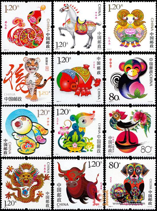 中邮网邮票_SX3-009 第三轮生肖邮票大全套(2004年猴-2015年羊)SX3-009,第三轮 ...