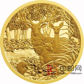 金银 外国金银币 金币 奥地利2013年野生动物系列精制金币(1)马鹿