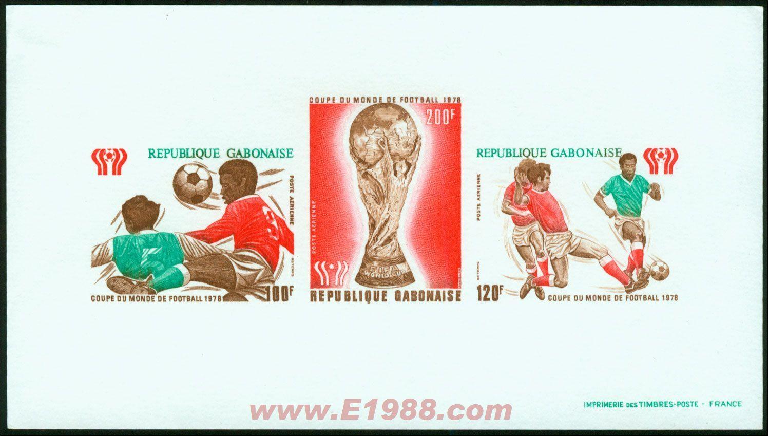 1978年加蓬共和国体育雕刻版样票