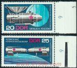 GDR198苏联宇航成就2枚全(民主德国,欧洲)