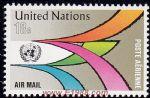 UN142航空�]票 彩色通道1枚全(�合��)