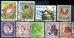 HS027 英国和南非信销邮票合售 9枚