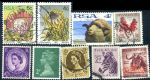 HS026 英国和南非信销邮票合售 9枚