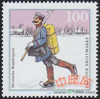 DEU662 邮票日 施普雷瓦尔德地区的邮递员 1