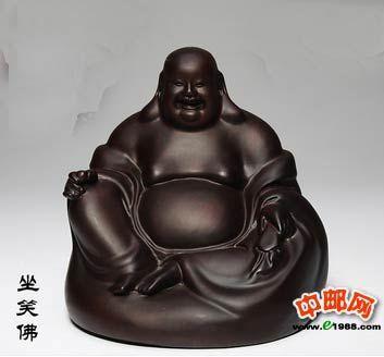 黑檀木雕弥勒佛像