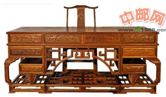 hmj0051 鸡翅木清式办公桌
