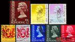 HK1150 香港女皇伊利沙白头像八枚(信销票)品相如图