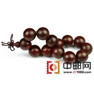 0396 印度老料小叶紫檀佛珠手串 12mm
