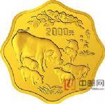 1995年乙亥(猪)年1公斤梅花形金质纪念币