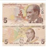 土耳其2009年5新里拉全新UNC(太阳系、原子核、DNA)