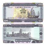 澳门1992年首年份大西洋银行100元全新