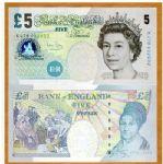 英国5英镑 5元 外国纸币 外币 钱币