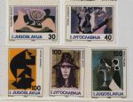 南斯拉夫1986年拉斐尔、毕加索等绘画5全,MNH,6975