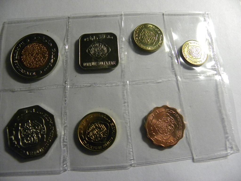 【非洲】苏丹-达尔富尔地区 7枚 硬币 外国钱币 套币纪念币(大图展示)