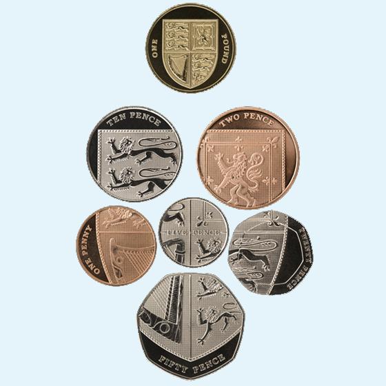 英国盾牌版硬币便士外国钱币精美纪念币(大图展示)