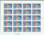 美国 2003年生肖羊不干胶20枚版张邮票