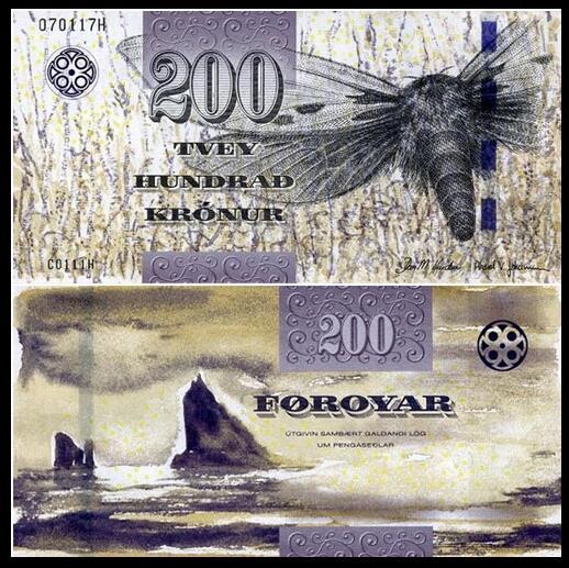 法罗群岛200克朗 纸币