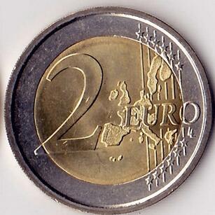 意大利2006年2欧元纪念双色金属币 (都灵冬奥会)(大图展示)图片