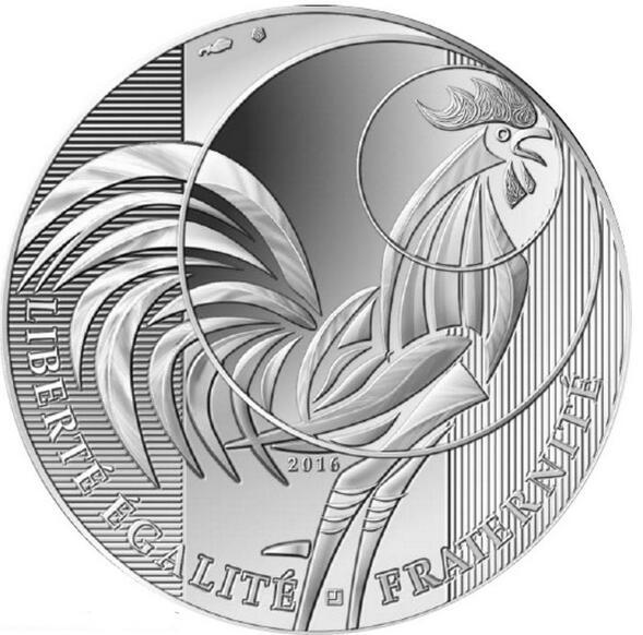 法国2016年10欧元银币精制币-高卢雄鸡(大图展示)