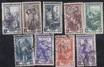 意大利早期邮票 工厂作业 信销9枚合售(欧洲)